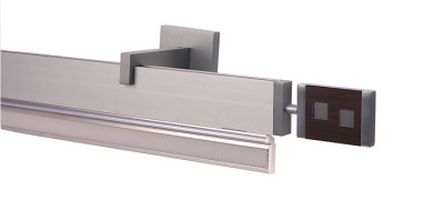 Riel Gal plata Peón con portatela para adaptar estor o panel Rieles Confeccion